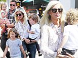 Tori Spelling and husband Dean McDermott brought their kids to the Studio City farmer's market to film their new reality show.\n\nPictured: Dean McDermott, Tori Spelling\nRef: SPL1107587  230815  \nPicture by: JaX / Mr Photoman / Splash News\n\nSplash News and Pictures\nLos Angeles: 310-821-2666\nNew York: 212-619-2666\nLondon: 870-934-2666\nphotodesk@splashnews.com\n