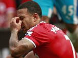 """Football - Manchester United v Newcastle United - Barclays Premier League - Old Trafford - 22/8/15  Manchester United's Memphis Depay looks dejected after the match  Action Images via Reuters / Jason Cairnduff  Livepic  EDITORIAL USE ONLY. No use with unauthorized audio, video, data, fixture lists, club/league logos or """"live"""" services. Online in-match use limited to 45 images, no video emulation. No use in betting, games or single club/league/player publications.  Please contact your account representative for further details."""