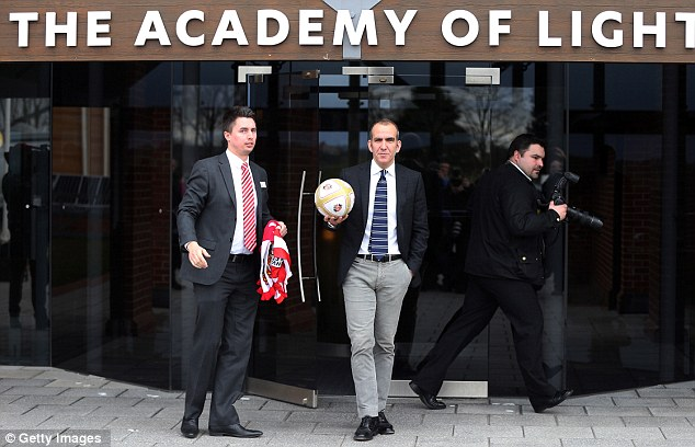 Not fussed: Di Canio looking as relaxed as ever as he strolled out to meet the cameras