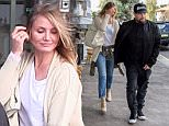 August 25, 2015:Cameron Diaz & Benji Madden leave Bills ay Bondi for breakfast...Mandatory Credit: INFphoto.com Ref:infausy-10/17
