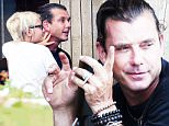 Picture Shows: Gavin Rossdale, Zuma Rossdale  August 21, 2015\n \n Newly single rocker Gavin Rossdale looks lost in thought at times while eating lunch with his son Zuma in Studio City, California. Gavin is still wearing his wedding ring despite recent news that he and wife Gwen Stefani were calling it quits after 13 years of marriage. \n \n \n EXCLUSIVE All Rounder\n UK RIGHTS ONLY\n FameFlynet UK © 2015\n Tel : +44 (0)20 3551 5049\n Email : info@fameflynet.uk.com