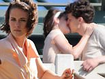 Picture Shows: Jesse Eisenberg, Kristen Stewart  August 24, 2015\n \n Actors, Kristen Stewart and Jesse Eisenberg, are spotted locking lips while filming a scene for an Untitled Woody Allen Project in Santa Monica, California. This is the first time Allen has filmed a movie in Los Angeles since 1977's 'Annie Hall.'\n \n Non-Exclusive\n UK RIGHTS ONLY\n \n Pictures by : FameFlynet UK © 2015\n Tel : +44 (0)20 3551 5049\n Email : info@fameflynet.uk.com