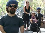 Picture Shows: Erica Schmidt, Zelig Dinklage, Peter Dinklage  August 24, 2015\n \n 'Game of Thrones' star Peter Dinklage goes for a walk with his wife Erica and their daughter Zelig in New York City, New York. \n \n Peter is having his voice replaced by another actor for the popular shooter game 'Destiny' due to poor reception he received when it launched.\n \n Exclusive All Rounder\n UK RIGHTS ONLY\n Pictures by : FameFlynet UK © 2015\n Tel : +44 (0)20 3551 5049\n Email : info@fameflynet.uk.com