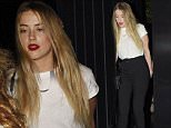 Mandatory Credit: Photo by REX Shutterstock (4991477h)\n Amber Heard\n Celebrities at the Chiltern Firehouse, London, Britain - 24 Aug 2015\n \n