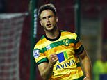 Ricky van Wolfswinkel of Norwich City celebrates scoring his goal to make it 0-2 during the Capital One Cup match between Rotherham United v Norwich City played at the New York stadium, Rotherham
