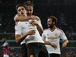 Aug 14th 2015 - Birmingham, UK -  ASTON VILLA N MAN UTD - Man Utd Januzaj cele goal 0-1 PIcture by Ian Hodgson/Daily Mail
