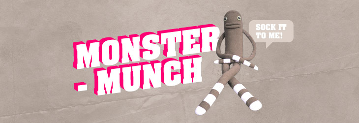 Monster-Munch - SockMonsters, People Making Things, Graphics, Typography, Illustration, all the good stuff.