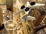 An artist rendering shows a TriFan 600 aircraft with the ability to both takeoff and land vertically, in this image released by XTI Aircraft Company on August 25, 2015. XTI Aircraft, a Denver, Colorado-based aerospace startup firm, launched an equity crowdfunding campaign on Tuesday to raise $50 million to fund the production of the TriFan 600, a six-seat fixed wing jet that can take off and land like a helicopter.     REUTERS/XTI Aircraft Company/Handout via Reuters ATTENTION EDITORS - THIS PICTURE WAS PROVIDED BY A THIRD PARTY. FOR EDITORIAL USE ONLY. NOT FOR SALE FOR MARKETING OR ADVERTISING CAMPAIGNS. THIS PICTURE IS DISTRIBUTED EXACTLY AS RECEIVED BY REUTERS, AS A SERVICE TO CLIENTS. NO SALES. NO ARCHIVES.