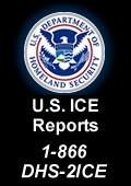 Contact US Immigration and Customs Enforcement to report suspicious activity 1-866-347-2423
