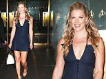 "Picture Shows: Ali Larter  August 27, 2015\n \n Actress Ali Larter visits the NBC Studios for an appearance on the ""Today"" show in New York City, New York. Ali showed off her curves in a low cut navy blue mini dress, which she paired with snakeskin heels and a black and white purse.\n \n Non-Exclusive\n UK RIGHTS ONLY\n \n Pictures by : FameFlynet UK © 2015\n Tel : +44 (0)20 3551 5049\n Email : info@fameflynet.uk.com"