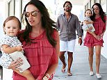 Jay Rutland seen walking with his wife Tamara Ecclestone Rutland and daughter after enjoying lunch in Los Angeles  Pictured: Jay Rutland and Tamara Ecclestone Rutland Ref: SPL1111016  270815   Picture by: KAT / Splash News  Splash News and Pictures Los Angeles: 310-821-2666 New York: 212-619-2666 London: 870-934-2666 photodesk@splashnews.com
