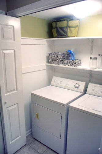 The Redheaded Stepchild: DIY: laundry closet redo: the big reveal