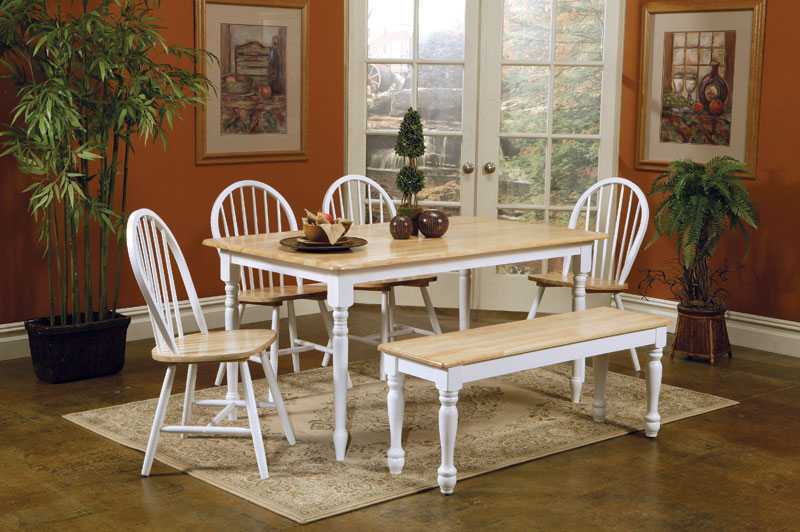 Small Kitchen Table And Bench Set - Modern Home Life Furnishings