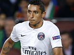 BARCELONA, SPAIN - APRIL 21: Marquinhos of PSG in action during the UEFA Champions League quarter final second leg match between FC Barcelona and Paris Saint-Germain (PSG) at Camp Nou stadium on April 21, 2015 in Barcelona, Spain. (Photo by Jean Catuffe/Getty Images)
