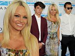 Pictured: Pamela Anderson and sons Dylan Jagger Lee and Brandon Thomas Lee\nMandatory Credit © Gilbert Flores/Broadimage\n2015 Mercy For Animals' Hidden Heroes Gala\n\n8/29/15, Culver City, CA, United States of America\n\nBroadimage Newswire\nLos Angeles 1+  (310) 301-1027\nNew York      1+  (646) 827-9134\nsales@broadimage.com\nhttp://www.broadimage.com\n