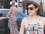 141682, EXCLUSIVE: Rumer Willis seen having lunch with a male friend in Los Angeles. Rumor was wearing a boot on her right foot from a dancing injury. Los Angeles, California - Saturday, August 29, 2015. Photograph: Sam Sharma, © PacificCoastNews. Los Angeles Office: +1 310.822.0419 sales@pacificcoastnews.com FEE MUST BE AGREED PRIOR TO USAGE