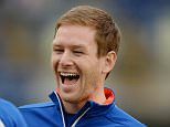 Cricket - England Nets - SSE SWALEC Stadium, Cardiff, Wales - 30/8/15  England's Eoin Morgan laughs during nets  Action Images via Reuters / Philip Brown  Livepic  EDITORIAL USE ONLY.