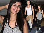 Victoria Justice and boyfriend Pierson Fode seen at LAX airport in Los Angeles, California.\n\nPictured: Victoria Justice and Pierson Fode\nRef: SPL1112362  290815  \nPicture by: Diabolik / Splash News\n\nSplash News and Pictures\nLos Angeles: 310-821-2666\nNew York: 212-619-2666\nLondon: 870-934-2666\nphotodesk@splashnews.com\n