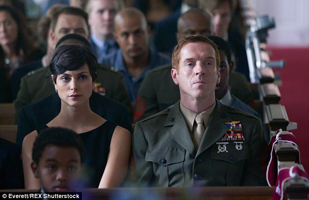 Breakout role: Baccarin found fame as Jessica Brody, the wife of Nicholas Brody, played by Damian Lewis, in Showtime's Homeland