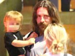 28.AUG.2015 - BRENTWOOD - USA\\n***AVAILABLE FOR UK AND GERMANY SALE ONLY ***\\nBRITISH ACTOR CHRISTIAN BALE APPEARS QUITE A BIT UNDERDRESSED AS HE TOOK IT UPON HIMSELF TO TAKE HIS WIFE, SIBI BLAZIC, AND HIS CHILDREN TO UPSCALE SUSHI RESTAURANT KATSUYA IN BRENTWOOD.  THE HANDSOME ACTOR APPEARED ALMOST UNRECOGNIZABLE UNDER A HEAVY BEARD AND LONG HAIR AS HE SNUGGLED UP TO HIS FAMILY OUTSIDE WHILE WAITING TO BE SEATED.  BALE WAS APPROACHED BY A FEW ADMIRERS WHO RECOGNIZED HIM AND HE KINDLY CHATTED WITH THEM BEFORE TURNING HIS ATTENTION BACK TO HIS KIDS, JOSEPH AND EMMELINE\\nBYLINE MUST READ: XPOSUREPHOTOS.COM\\n***UK CLIENTS - PICTURES CONTAINING CHILDREN PLEASE PIXELATE FACE PRIOR TO PUBLICATION ***\\n*UK CLIENTS MUST CALL PRIOR TO TV OR ONLINE USAGE PLEASE TELEPHONE 0208 344 2007*