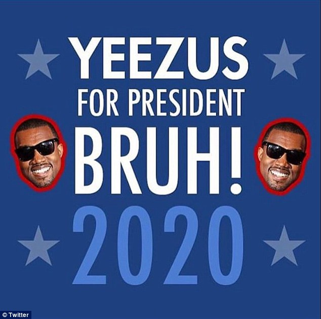 Catchy: Others predicted what Kanye's campaign posters, and slogans, might look like