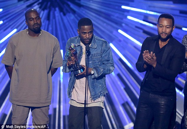 Another win: Kanye, Big Sean, and John Legend also accepted the award for video with a social message