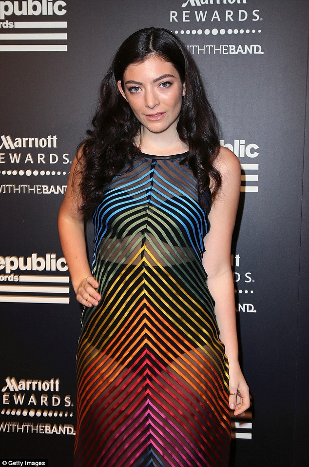 Classy: The A-line design gave Lorde a ladylike look