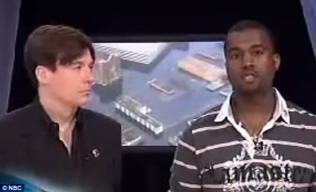 Anniversary: Almost 10 years ago top the day, Kanye said while appearing at a Hurricane Katrina benefit; 'George Bush doesn't care about black people'