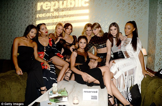Star studded: A handful of celebrities also attended the after party, including Lorde's pal, Taylor Swift (pictured)