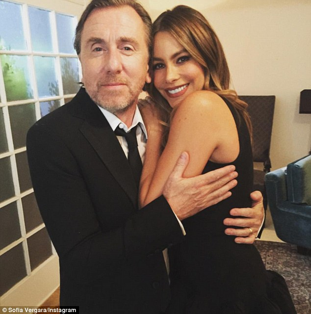 All-star cast: In addition to Sofia, The Brits Are Coming stars Tim Roth (left), Uma Thurman, and more