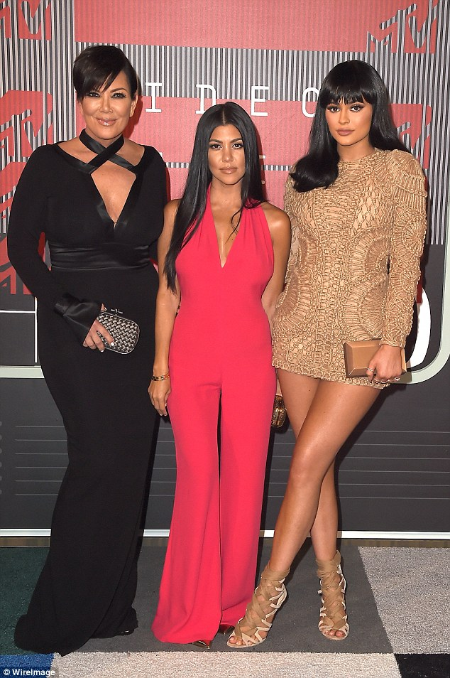 Doing her own thing: Kourtney's younger sister Kylie Jenner attended the music event with her sisters and mother, though headed elsewhere once the family went out for dinner