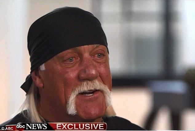 'Please forgive me': Hulk Hogan wept in a Monday morning interview as he discussed the racial row he says has left his entire wrestling career completely erased from the history books