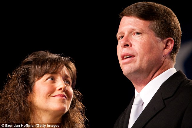 Heads of the house: Michelle Duggar (above with husband Jim Bob in 2010) also appeared on the special with her daughters