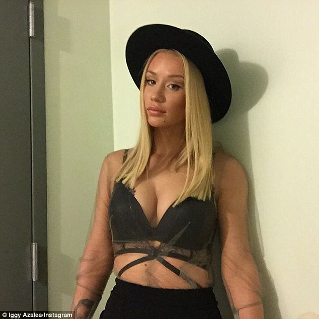 On show: The singer, who underwent a breast enlargement last year, affge