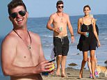 141702, Robin Thicke and girlfriend April Love Geary are seen at a friends beach party in Malibu. Malibu, California - Sunday August 30, 3015. Photograph: Pedro Andrade, © PacificCoastNews. Los Angeles Office: +1 310.822.0419 sales@pacificcoastnews.com FEE MUST BE AGREED PRIOR TO USAGE