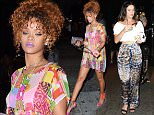 """Rihanna and Katy Perry seen partying at the """"VIP Room"""" in the Meatpacking District in NYC\n\nPictured: Rihanna\nRef: SPL1112327  300815  \nPicture by: Splash News\n\nSplash News and Pictures\nLos Angeles: 310-821-2666\nNew York: 212-619-2666\nLondon: 870-934-2666\nphotodesk@splashnews.com\n"""