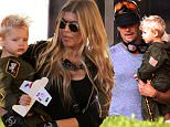 Fergie and Josh Duhamel celebrate son Axl's second birthday with a party at Chin Chin in Brentwood.  Saturday, August 29, 2015. X17online.com