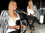 August 29, 2015\n \n NeNe Leakes dines out at Craig's Restaurant in West Hollywood, California.  NeNe wore a patterned blazer and ripped jeans paired with black Louboutins to finish off the ensemble.\n \n Non Exclusive\n UK RIGHTS ONLY\n \n Pictures by : FameFlynet UK � 2015\n Tel : +44 (0)20 3551 5049\n Email : info@fameflynet.uk.com