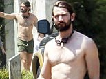 141680, EXCLUSIVE: Age of Adaline star Michiel Huisman is seen leaving a pool party with his actress wife Tara Elders and daughter Hazel in New Orleans. The shirtless actor, who also plays Daario Naharis in the TV series Game of Thrones, showed off his wet and muscular body. He wore green short swim trunks, Tara wore a purple dress cover up while Hazel chose to keep warm in her towel. New Orleans, Louisiana - Saturday August 29, 2015. Photograph: � PacificCoastNews. Los Angeles Office: +1 310.822.0419 sales@pacificcoastnews.com FEE MUST BE AGREED PRIOR TO USAGE