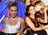 WEST HOLLYWOOD, CA - AUGUST 30:  (Exclusive Coverage) Martha Hunt, Lily Aldridge, Selena Gomez, Taylor Swift, Hailee Steinfeld and Serayah McNeill attend the Republic Records VMA after party at Ysabel on August 30, 2015 in West Hollywood, California.  (Photo by Kevin Mazur/Getty Images)