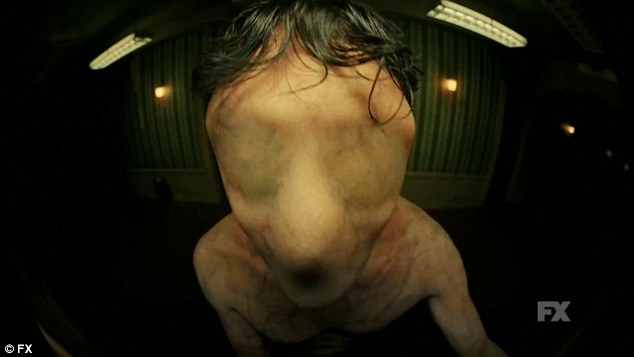 Terror vision: A man with flesh covered eyes and nose features in an American Horror Story: Hotel teaser