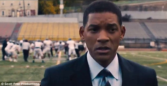 First look: The first trailer for Will Smith's new movie Concussion was released on Monday