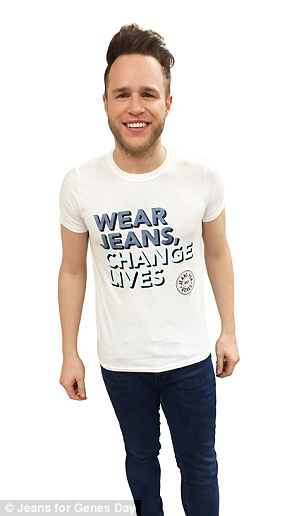 X Factor's Ollie Murs is inviting the public to wear jeans and the new T-shirt to ensure that children with genetic disorders continue to receive vital care
