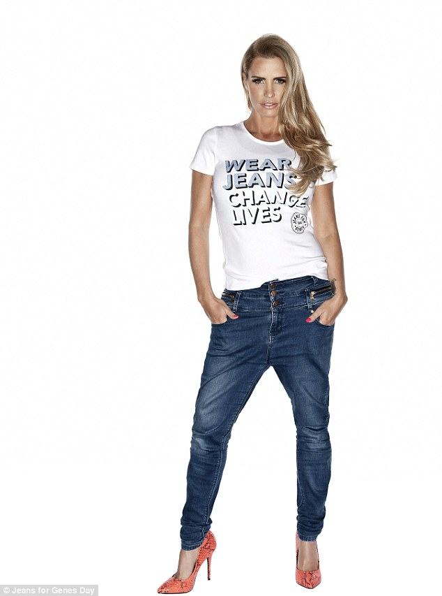 Katie Price is also a star of the new charity campaign which highlights genetic diseases