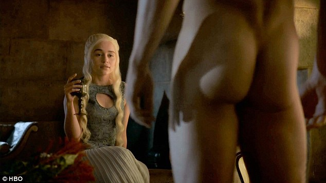 Phew, what a view: Emilia as Daenarys obviously didn't find Michiel lacking