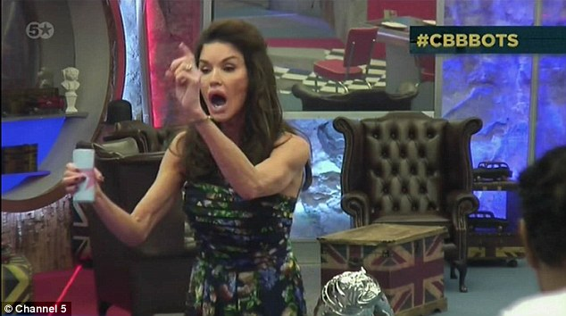 Diva: Janice Dickinson went wild on Monday night's episode of Celebrity Big Brother when she discovered the rest of the Housemates had used up all of the hot water