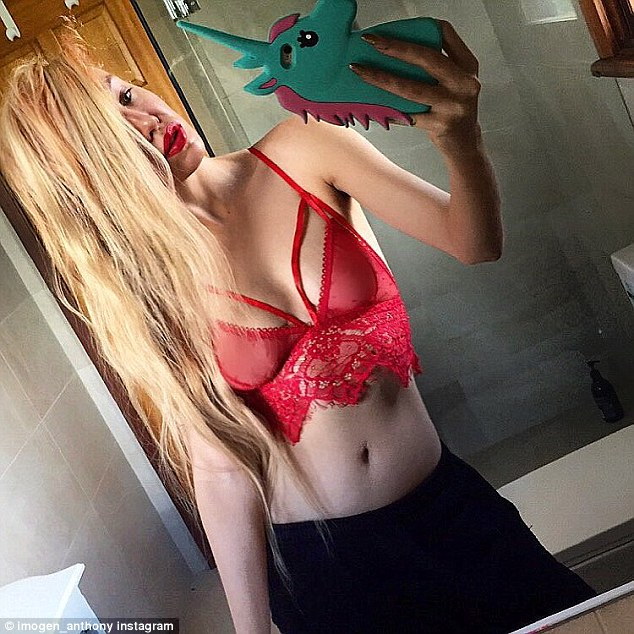 Baring it all: The racy video is nothing new for the aspiring fashion designer who shares revealing snaps of herself on a daily basis