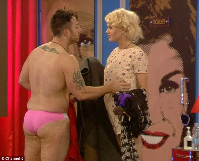 I said, I'm FINE: Chloe-Jasmine Whichello maintained that she was totally fine with her fiance spending time in the hot tub with Farrah Abraham and Jenna Jameson on Monday nights episode of Celebrity Big Brother