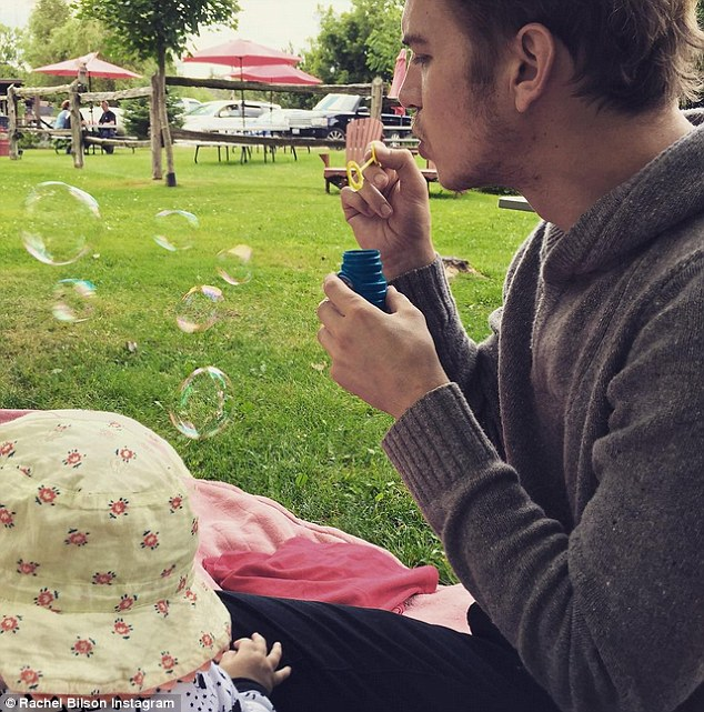 Glimpse: Rachel and boyfriend Hayden Christensen took ten months to share an image of their daughter Briar Rose eaelier this month - even then shielding her face from the camera
