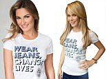 Sam Faiers in Jeans for Genes white campaign t-shirt.jpg